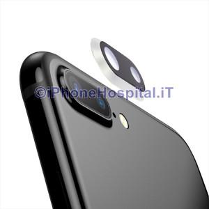 Lente Anello Vetro Vetrino Obbiettivo Camera Fotocamera Apple iPhone 8P Argento