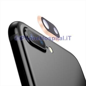 Lente Anello Vetro Vetrino Obbiettivo Camera Fotocamera per Apple iPhone 8P Oro