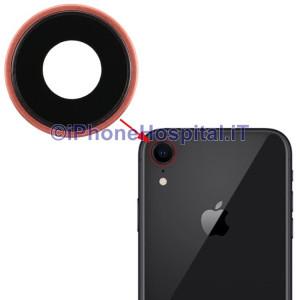 Lente Anello Vetro Vetrino Obbiettivo Cam Fotocamera per Apple iPhone XR Rosa