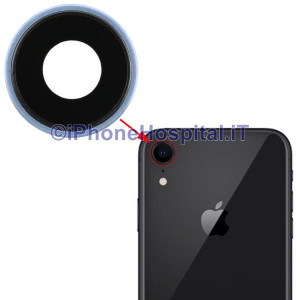 Lente Anello Vetro Vetrino Obbiettivo Cam Fotocamera per Apple iPhone XR Blue
