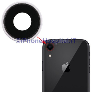 Lente Anello Vetro Vetrino Obbiettivo Cam Fotocamera per Apple iPhone XR Bianco