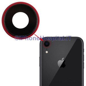 Lente Anello Vetro Vetrino Obbiettivo Cam Fotocamera per Apple iPhone XR Rosso