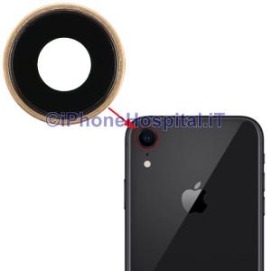 Lente Anello Vetro Vetrino Obbiettivo Cam Fotocamera per Apple iPhone XR Oro