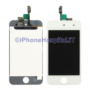 iPod Touch 4th Bianco Vetro frontale con LCD OEM