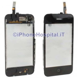 Kit completo vetro touch, tasto home, altoparlante iphone 3GS