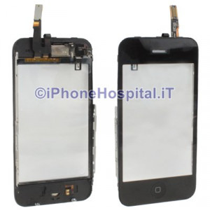 Kit completo vetro touch, tasto home, altoparlante iphone 3GS