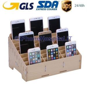 Contenitore 24 Box Professionale Cellulari Negozio Laboratorio Riparazione
