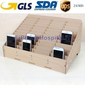 Contenitore 48 Box Professionale Cellulari Negozio Laboratorio Riparazione