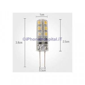 Lampadina LED a pannocchia luce bianca calda G4