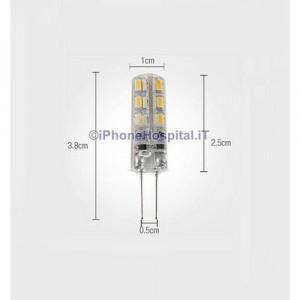 Lampadina LED 220V a pannocchia luce bianca calda G4