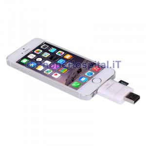 Lettore Memory Card USB I-flash Drive per iPhone 5/5S/6/6plus iPad 4 Mini iPod 5
