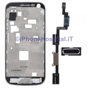 Middle Frame Cornice LCD per Samsung Galaxy S4 Mini i9195 Incluso Circuito Tasto