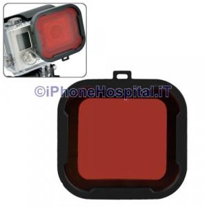 Polarizzatore Subaqueo Rosso per Gopro 4 & 3 +