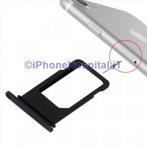 Porta Nano Sim per Apple iPhone 7 A1660, A1780, A1778, A1779 Color Nero