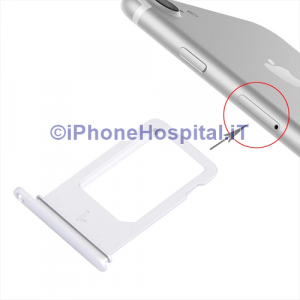 Porta Nano Sim per Apple iPhone 7 A1660, A1780, A1778, A1779 Color Silver