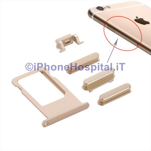 Porta Nano Sim + Volume Mute e ON OFF per Apple iPhone 6S & 6S Oro ( Gold )
