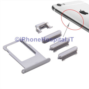 Porta Nano Sim + Volume Mute e ON OFF per Apple iPhone 6S & 6S Plus Grigio