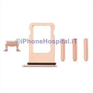Porta Sim Card Slot + Tasti Volume,Accensione, Mute Oro (Gold)per Apple iPhone 8