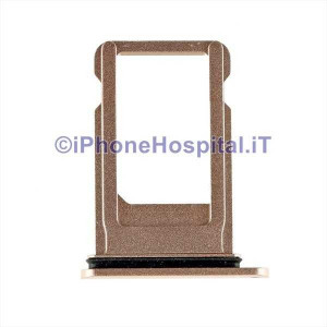Porta Sim Card Slot Vassoio Micro Scheda Sim Tray Oro per Apple iPhone 8