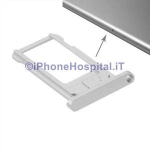 Porta Sim Schedina Silver per Apple iPad 6 Air 2 (A1474,A1475)