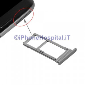 Porta Sim Slot Slitta Vassoio Color Grigio per Samsung Galaxy S7 G930 G930F