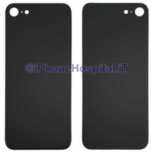 Retro Cover Copri Batteria Fondello Nero per iPhone 8