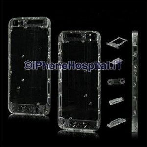 Retro Cover Trasparente per Apple iPhone 5 A1428, A1429, A1442