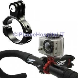 Supporto Alluminio Manubrio 31,8 mm per GoPro Hero Tutti i Modelli