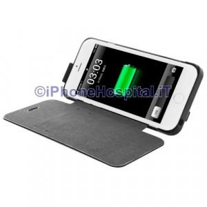 Batteria Esterna Ricaricabile con Supporto iPhone 6 Nero 2800 mAh Slot Carte