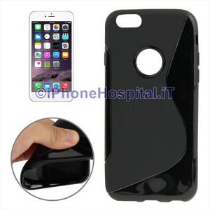 Custodia Protettiva in TPU Antiscivolo Nero per iPhone 6 Plus e 6S Plus