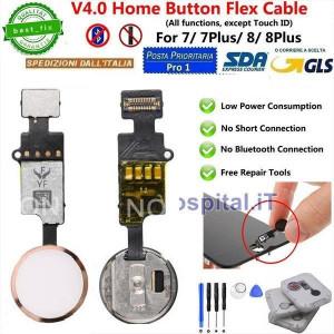 Flex Cable Ripristino Tasto Home per iPhone 7/7P/8/8P Oro(Gold)Nuova Versione