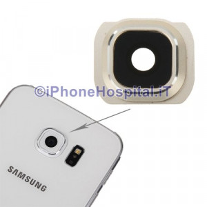 Vetro Vetrino Gold Lente Fotocamera Posteriore Camera per Samsung Galaxy S6 G925
