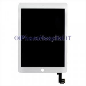 Schermo Vetro Touch Screen LCD Assemblato Bianco per iPad Air 2