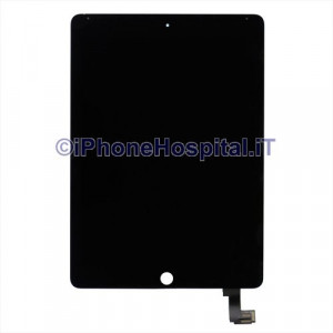 Schermo Vetro Touch Screen LCD Assemblato Nero per iPad 6 Air 2
