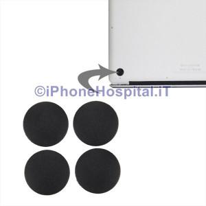 Set 4 x Piedini Piedi Rubber Gommini per Macbook Pro 13 15 17 A1278 A1286 A1297