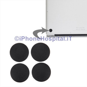 Set 4 x Piedini Piedi Rubber Gommini per Macbook Pro A1398 & A1425 & A1502