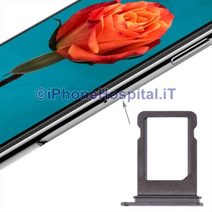 Slot Porta Sim Carrello Carrellino per Apple iPhone X Grigio