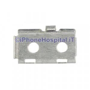 Staffa Supporto Metallico per Blocco Flat Tasto Home iPhone 5S