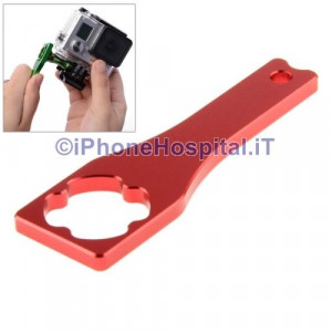 Strumento Chiave in Metallo per GoPro Hero 3+ / 3 / 2 Color Rosso
