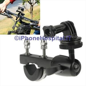 Supporto Bici Moto manopola montaggio treppiedi GoPro HERO 5/4 /3+ /3 /2mini DV