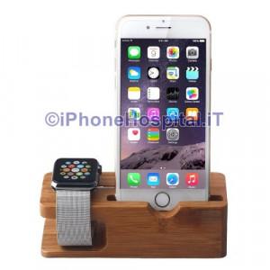Supporto Caricabatteria Bambu Apple Watch 38-42mm iPhone 6 & 6 Plus 5 & 5S & 5C