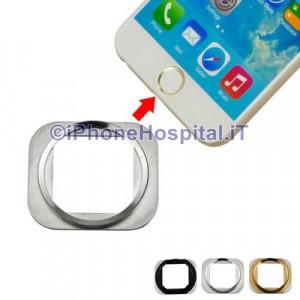 Supporto Cornice Tasto Home Silver per Apple iPhone 6 & 6 Plus