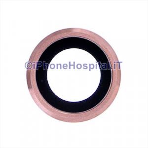 Supporto Fotocamera Posteriore Rosa con Lente per iPhone 6S Plus