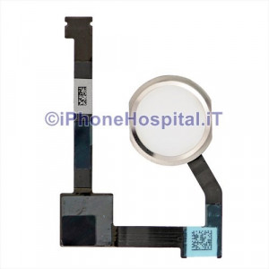Tasto Home - Flex Cable Bianco per iPad 6 Air 2