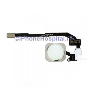 Tasto Home - Flex Cable per iPhone 5S Assemblato Grigio (Silver)