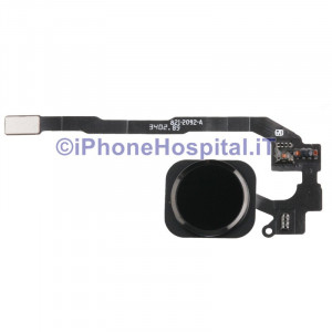 Tasto Home - Flex Cable per iPhone 5S Assemblato + Membrana Nero