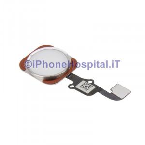 Tasto Home - Flex Cable per iPhone 6S e 6S Plus Assemblato Argento ( Silver )