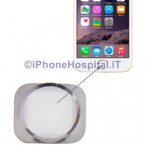 Tasto Home Bianco Cornice Silver iPhone 6/6S & 6Plus 6S Plus