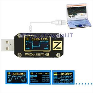 Tester USB Professionale Schermo OLED Corrente Voltaggio