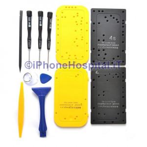 Tool Kit con salvaviti per RIPARAZIONE iPhone 3G , 3GS , 4G , 4S , 5